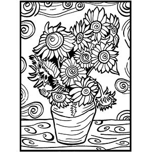 Fiori di velluto da colorare florarte arenzano l for Disegno vaso da colorare